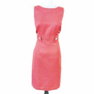 NEW Tahari Coral White Polka Dot Jackie O Dress